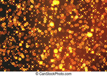 christmas golden sparkle background with stars and bokeh,...