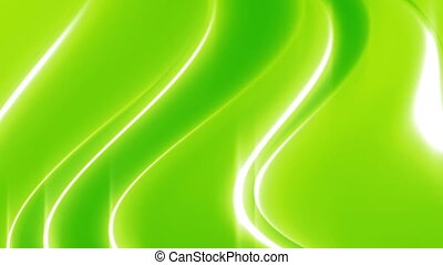 Flowing green and white looping waves - Animated flowing...