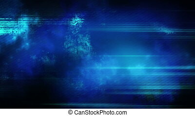 Tech blue green grunge looping background - Animated tech...