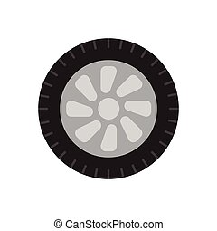 Wheel for transport on a white background.