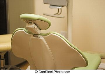 Dentist chair - Close-up of a dentist chair in a dental...