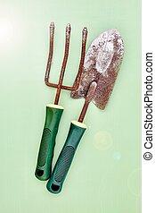 Garden Care - A studio photo of a garden equipment of...
