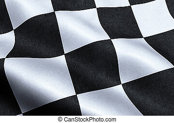 checkered flag, end race background, formula one competition