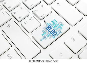 moteur, recherche, concept, bouton, clavier, Business, clé,...