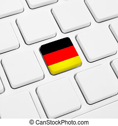 German language or Germany web concept. National flag button...