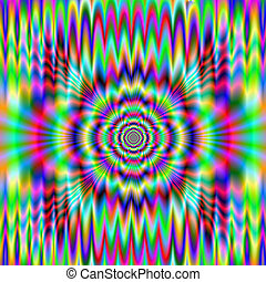 Psychedelic Meltdown - An abstract digital image with a...