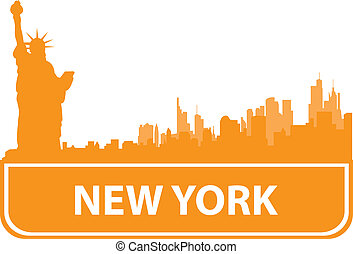 New York sity outline Vector illustration for you design