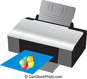 Printer. Vector illustration for you design