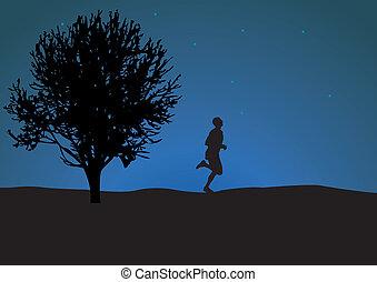 Runner. Vector illustration for you design
