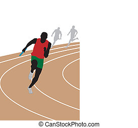 Runner. Vector illustration for you design