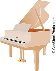 Grand piano - a music instrument. Vector illustration for...
