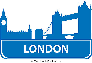 London outline Vector illustration for you design