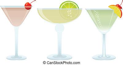 Cocktails set, vector illustration for you design