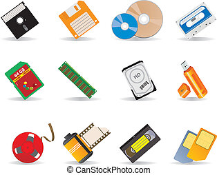 Carriers to information. Vector illustrations for you design