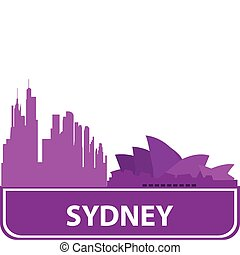 Sydney outline. Vector illustration for you design