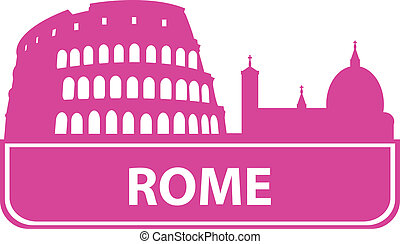 Rome outline. Vector illustration for you design
