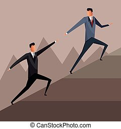 business men growth collaboration solution design