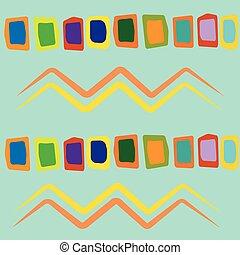 Hand drawn navajo fabric. Modern abstract wallpaper. Vector...