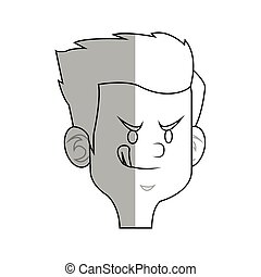 cartoon kid icon - happy boy cartoon icon over white...