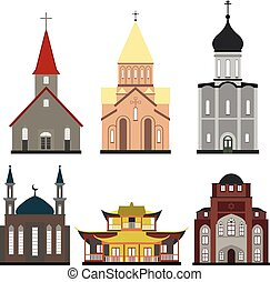 churches of different religions