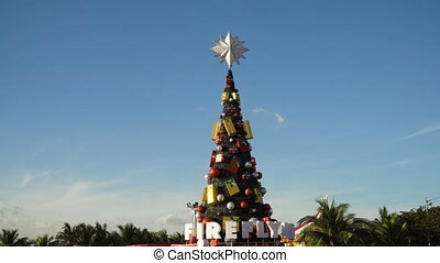 Beautiful Christmas Tree. - Christmas tree in the square in...