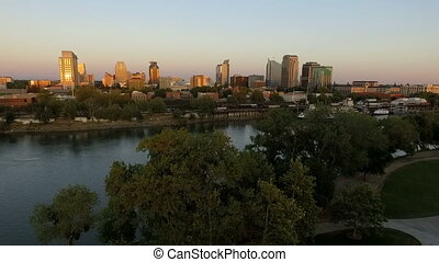 Sacramento River Capital City California Downtown Urban City Skyline