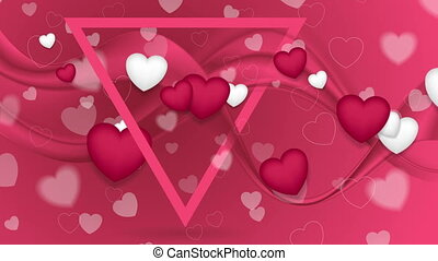 Bright hearts and smooth waves video animation - Bright...