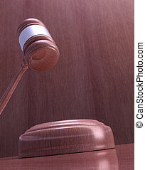 Gavel - Wooden mallet of judge Highly detailed texture