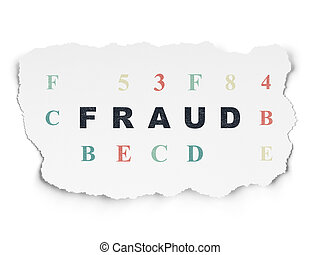 Safety concept: Fraud on Torn Paper background - Safety...