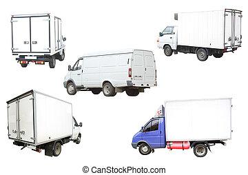 Vans under the white background