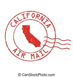 California post office sign or stamp - California post...