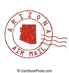 Arizona post office sign or stamp - Arizona post office, air...