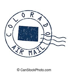 Colorado post office sign or stamp - Colorado post office,...