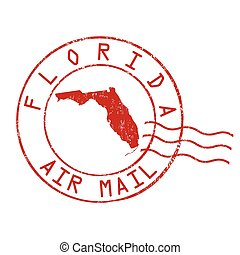 Florida post office sign or stamp - Florida post office, air...