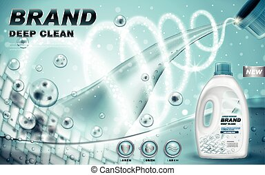 laundry detergent ad - laundry detergent that cleans dirt in...