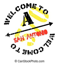 San Antonio stamp. Grunge design with dust scratches....