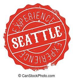 Seattle stamp rubber grunge - Seattle stamp. Grunge design...