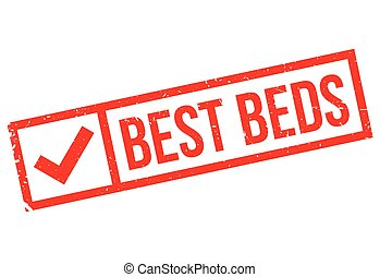 Best Beds rubber stamp. Grunge design with dust scratches....