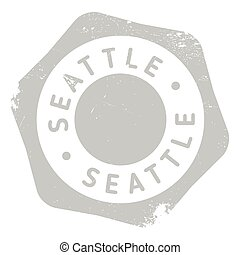 Seattle stamp rubber grunge - Seattle stamp. Grunge design...