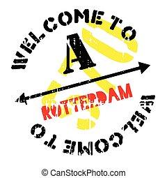Rotterdam stamp rubber grunge - Rotterdam stamp. Grunge...