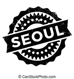 Seoul stamp rubber grunge - Seoul stamp. Grunge design with...