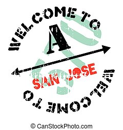San Jose stamp. Grunge design with dust scratches. Effects...