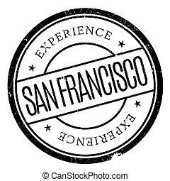 San Francisco stamp. Grunge design with dust scratches....