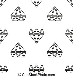 Diamonds vector seamless pattern in black and white