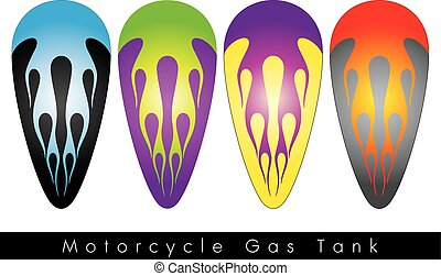 Motorcycle Gas Tank. Vector design, illustration. - This is...