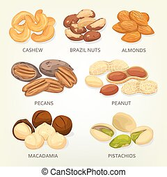 Brazil nuts and cashew fruit seeds, grains - Nuts and seeds,...