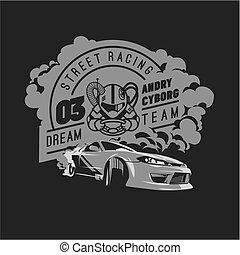 Burnout car, Japanese drift sport, Street racing - Burnout...
