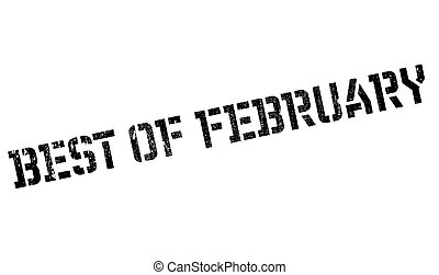 Best Of February rubber stamp. Grunge design with dust...