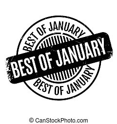 Best Of January rubber stamp. Grunge design with dust...