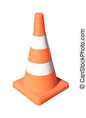 traffic cone - Brightly coloured traffic cone under the...
